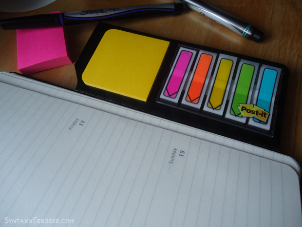 Love my Post it Study Notebook Kit in my Moleskine planner