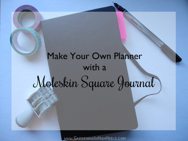 How to make a planner with a Moleskine Square Journal