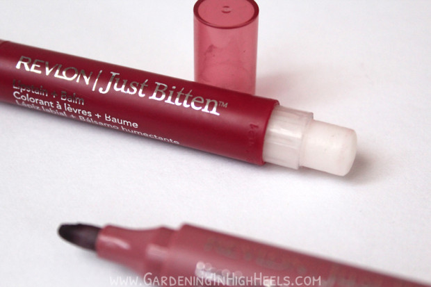 Revlon Just Bitten marker-tip stain isn't the best Revlon stain. Try the Color Stay Balm Stain or the Colorburst Balm instead.