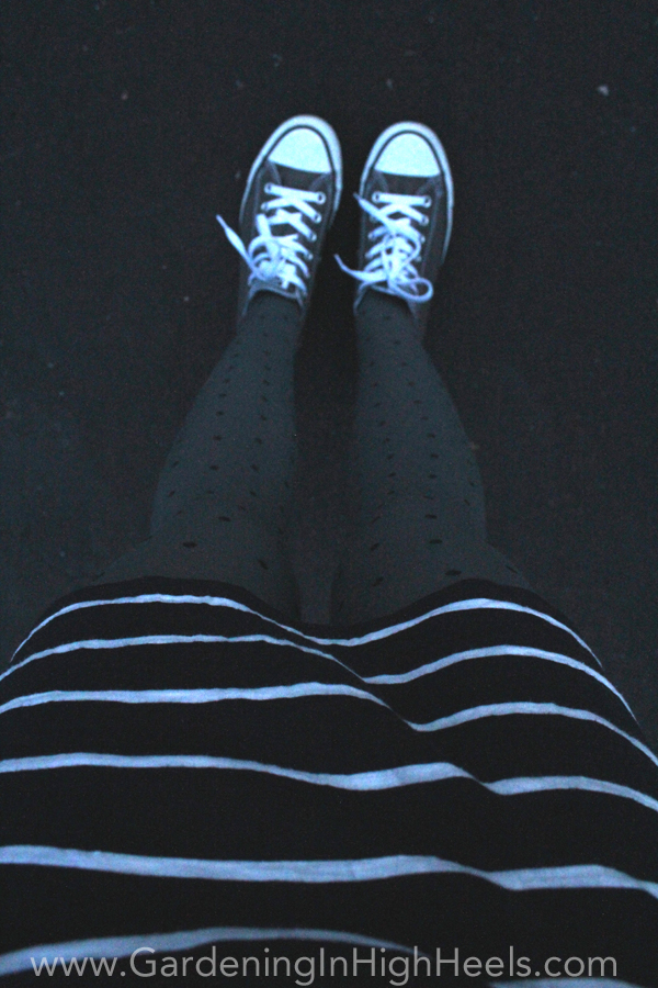 Stripes, polka dots, and Converse sneakers. Dressed down cuteness!