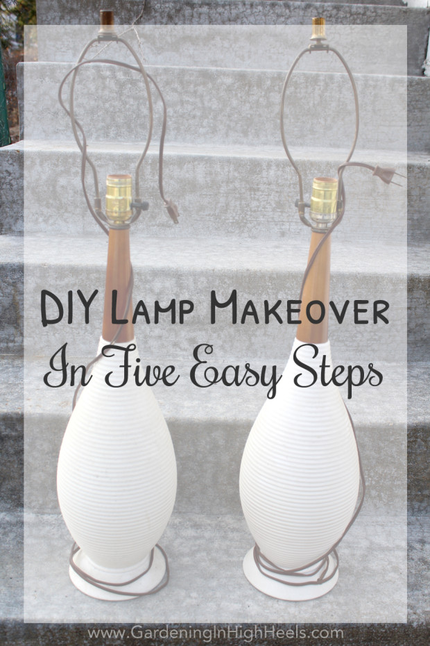 Super simple lamp makeover using spray paint. New lamps in under an hour for about $10!