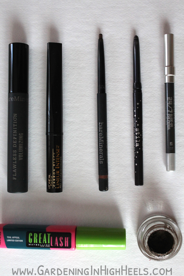 The best eyeliner and mascara.