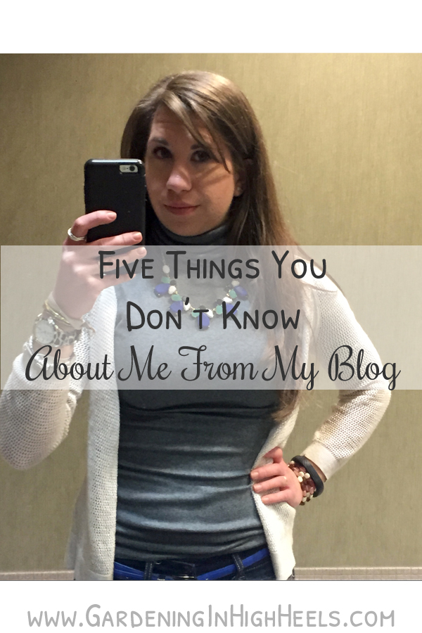 Five things you don't know about me from reading by blog (thing one: I hate selfies).