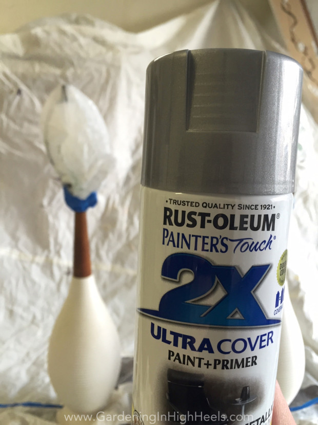 Spray paint is the best thing when DIYing. I love Rustoleum because it covers everything and lasts for ages (or until you spray paint again)!