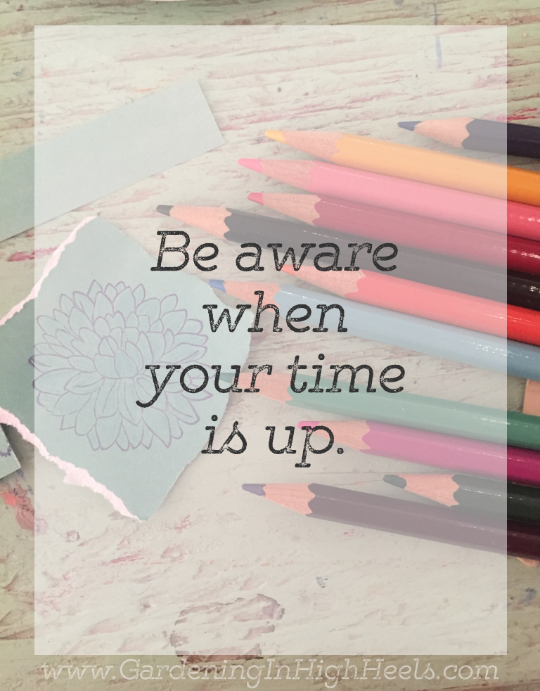Be aware when your time is up - Baron Batch