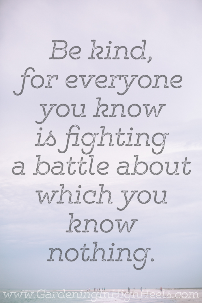 Be kind, for everyone you know is fighting a battle which you know nothing about. #quotes
