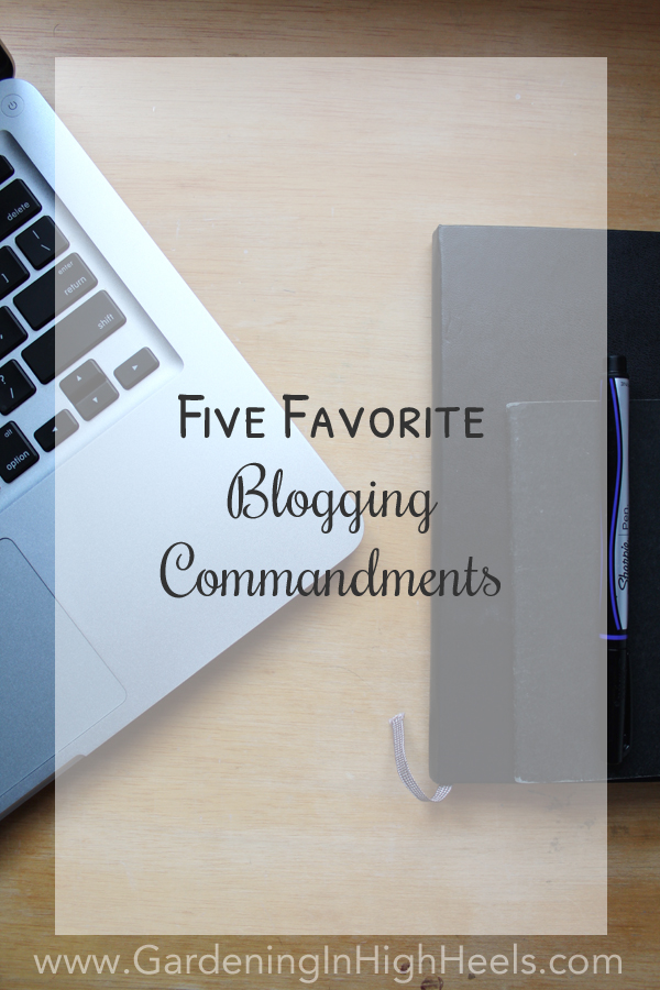 I really don't have many hard and fast rules when I'm blogging, but I do have some guidelines. Here are my top five favorite blogging commandments. #BloggerMayI #blogging #guidelines