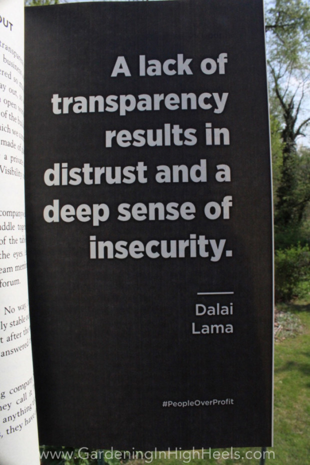 """A lack of transparency results in distrust and a deep sense of insecurity."" Dalai Lama #quote #peopleoverprofit"