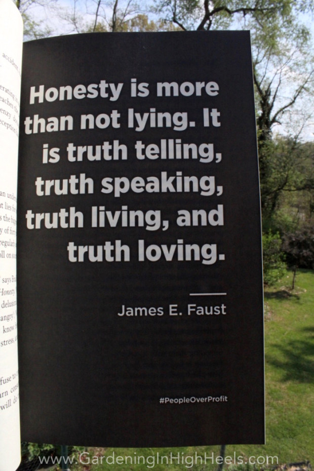 """Honesty is more than not lying. It is truth telling, truth speaking, and truth loving."" James E Faust #quotes #peopleoverprofit"