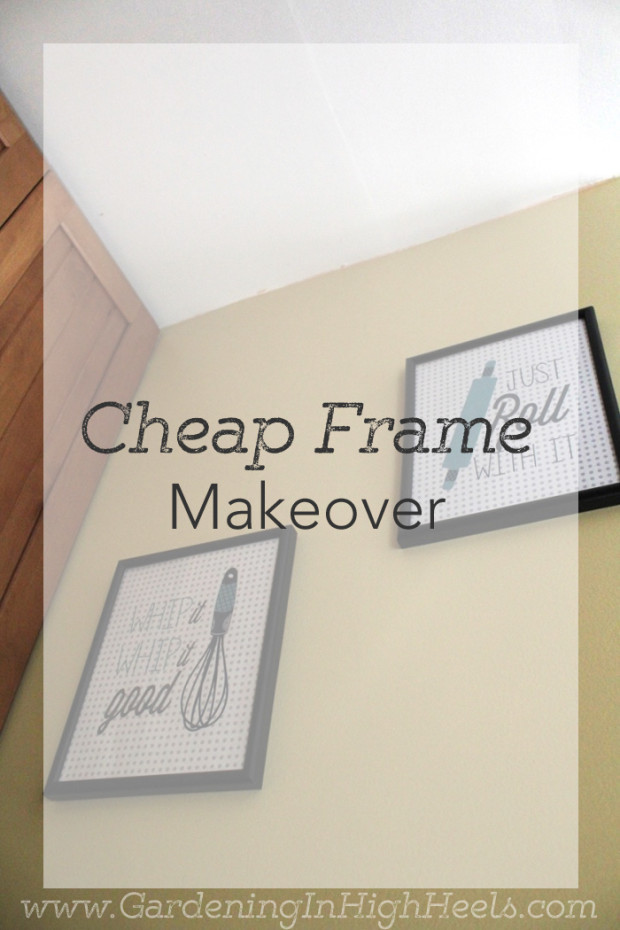 Easy and cheap frame makeover with spray paint!