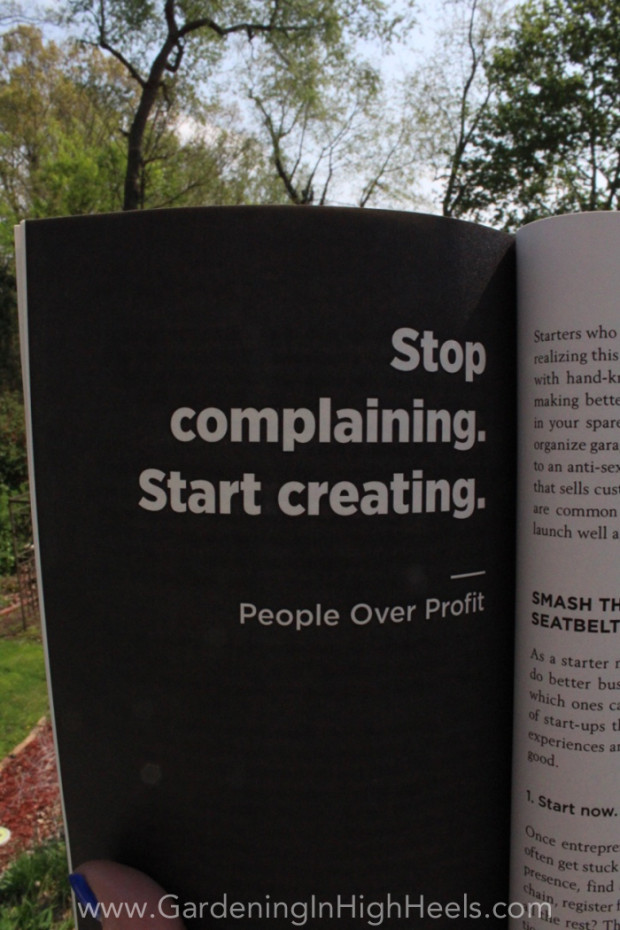 """Stop complaining. Start creating."" Dale Partridge #quotes #peopleoverprofit"