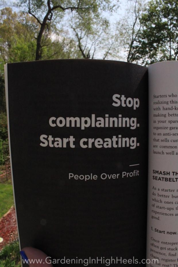 """Stop complaining. Start creating."" Dale Partridge #quotes #peopleoverprofit"