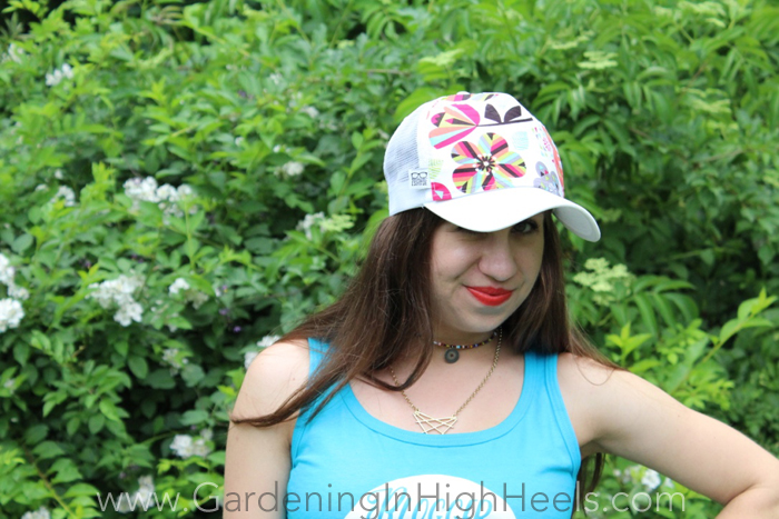 Handmade Escapade Fancy Trucker Hat - girly and edgy and I love it!