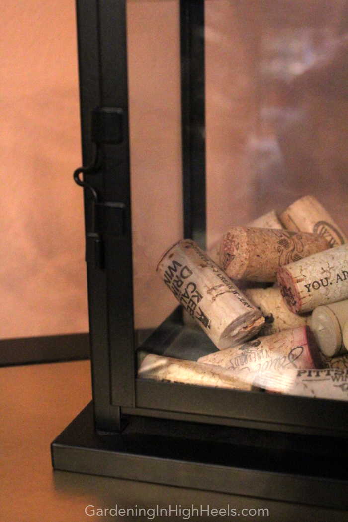 Keep wine corks in a latern from IKEA! | Gardening In High Heels