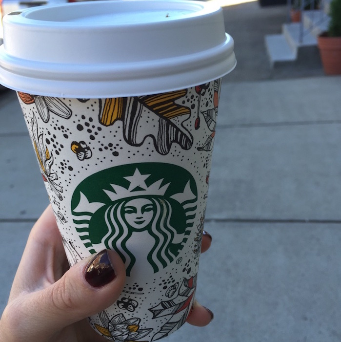 Cute Fall Starbucks cups
