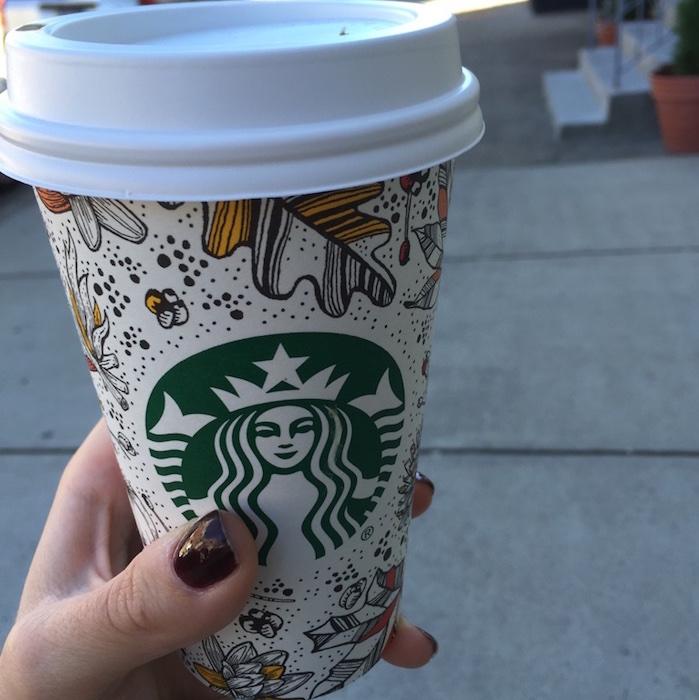 Cute Fall Starbucks cups
