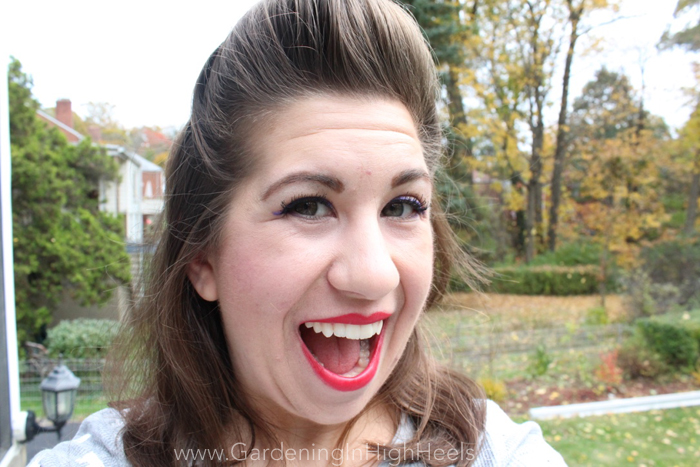 Pin-Up Inspired Halloween Look | Gardening In High Heels