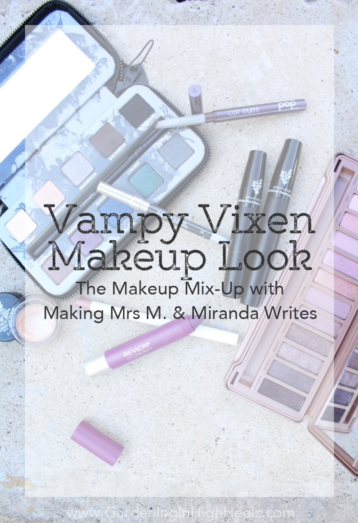 Vampy Vixen Makeup for the Makeup Mix-Up challenge using Urban Decay Naked 3 and Urband Decay Smoked palette | Gardening In High Heels