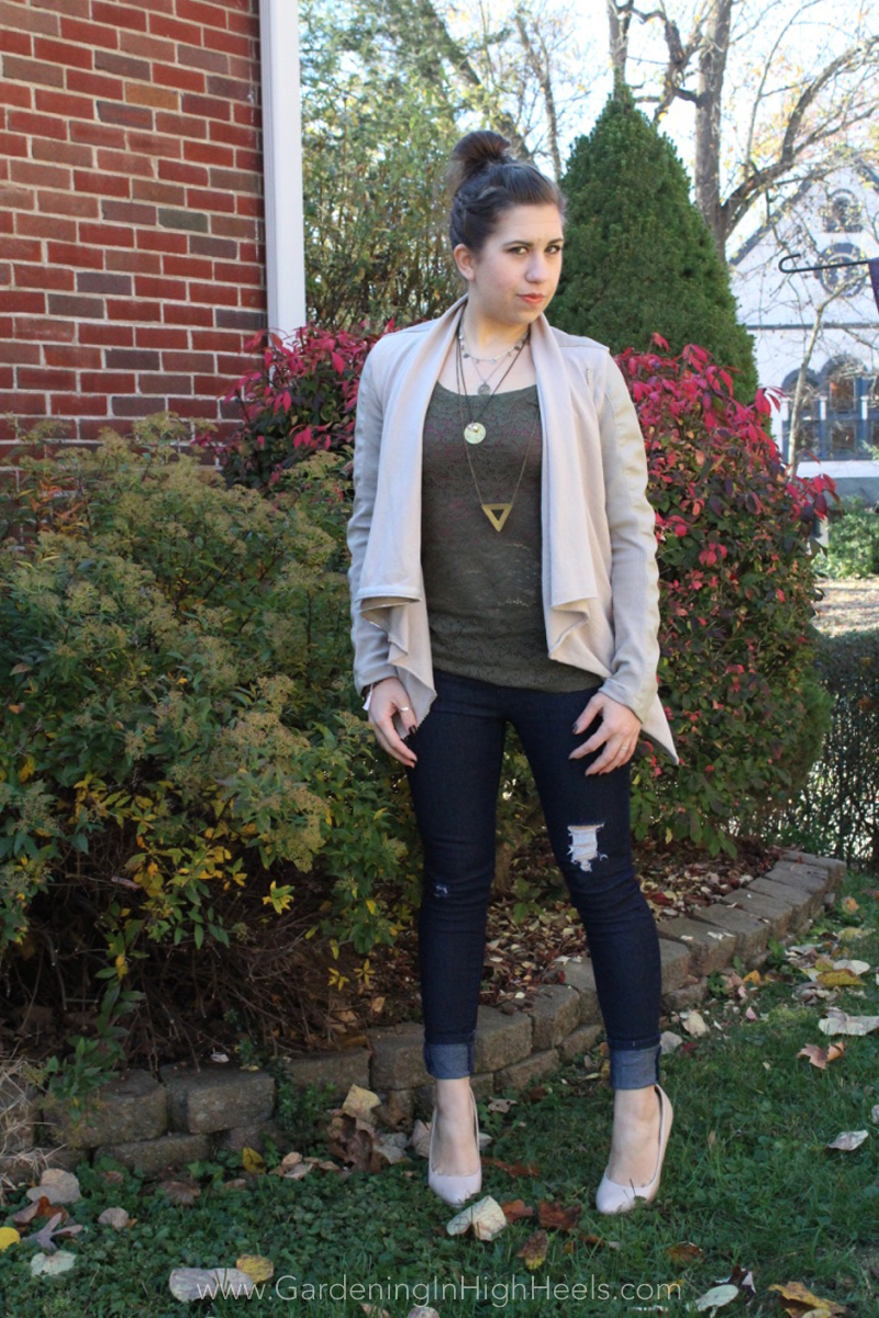 Fall/winter date night look | Gardening In High Heels