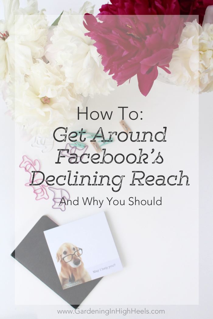 How to deal with Facebook Business Page declining reach and why you should care as a blogger or business owner.
