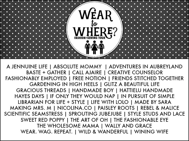 Wear to Where blog tour with fashion and sewing bloggers