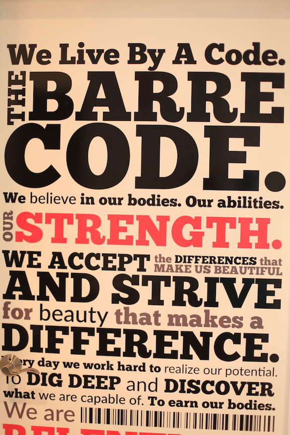 We live by a code..the Barre Code.