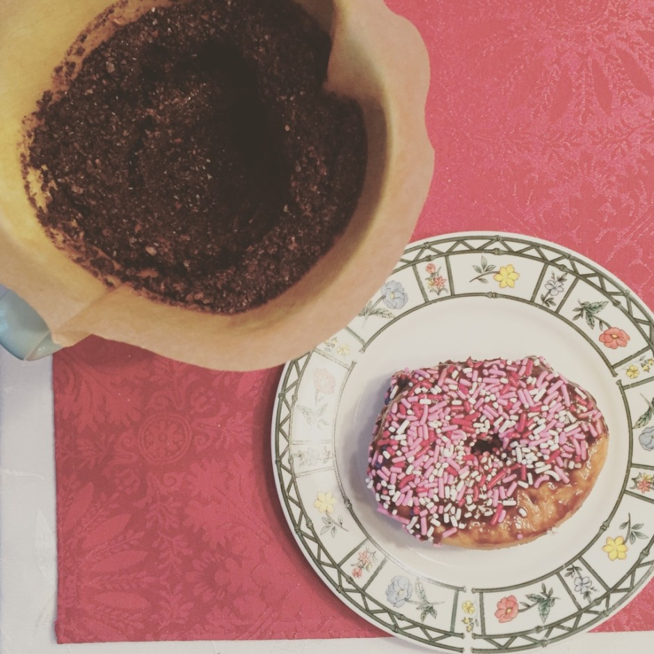 Pour over coffee and donuts. Does it get any better??
