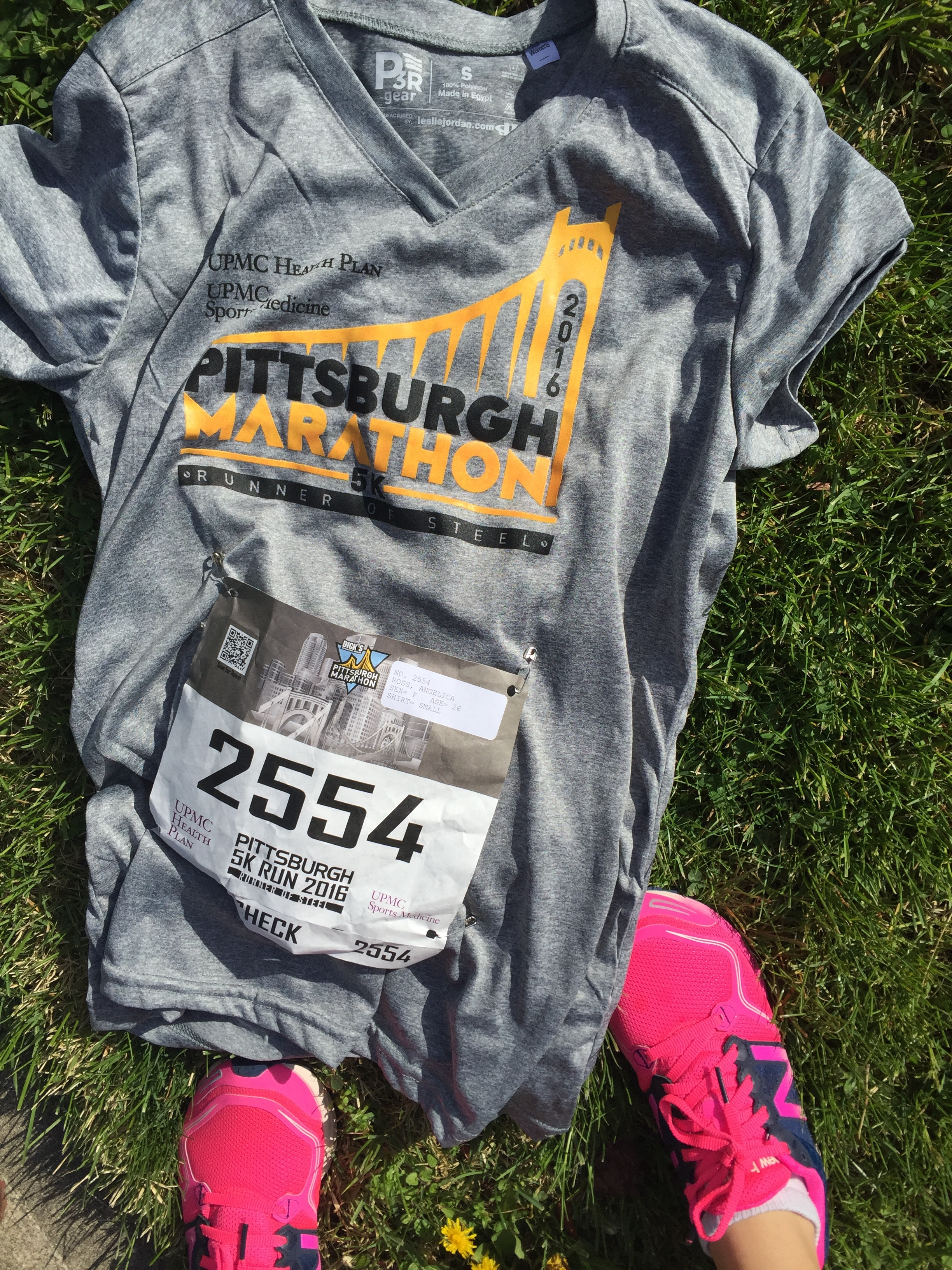 Pittsburgh Marathon 5k 2016 shirts