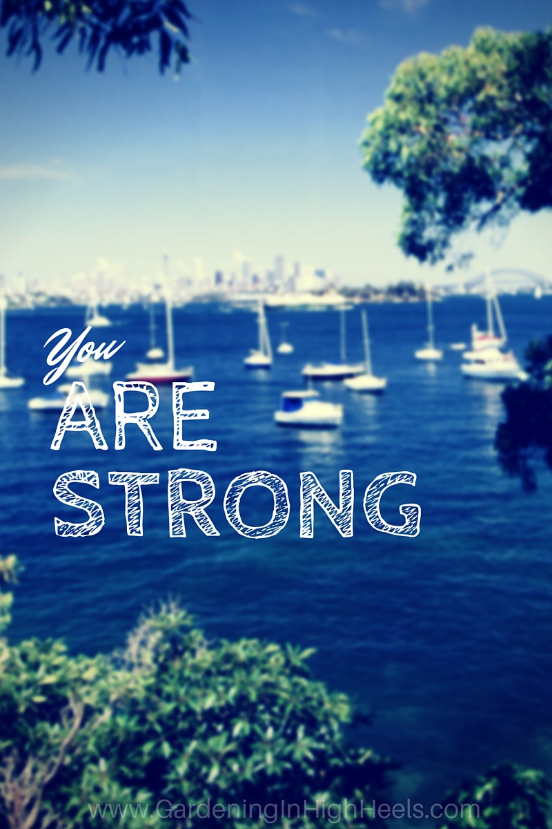 You are strong, damnit. Don't forget that.