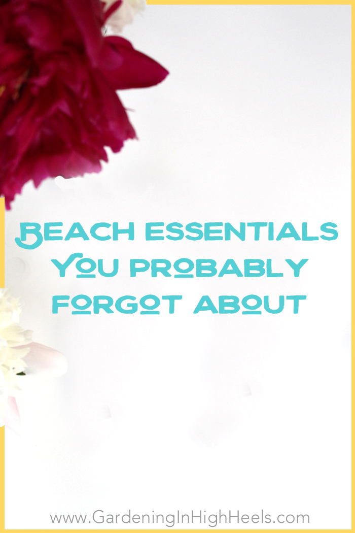 Great list of things you probably forgot to take to the beach. This is a much better list than just sunscreen and a good book!