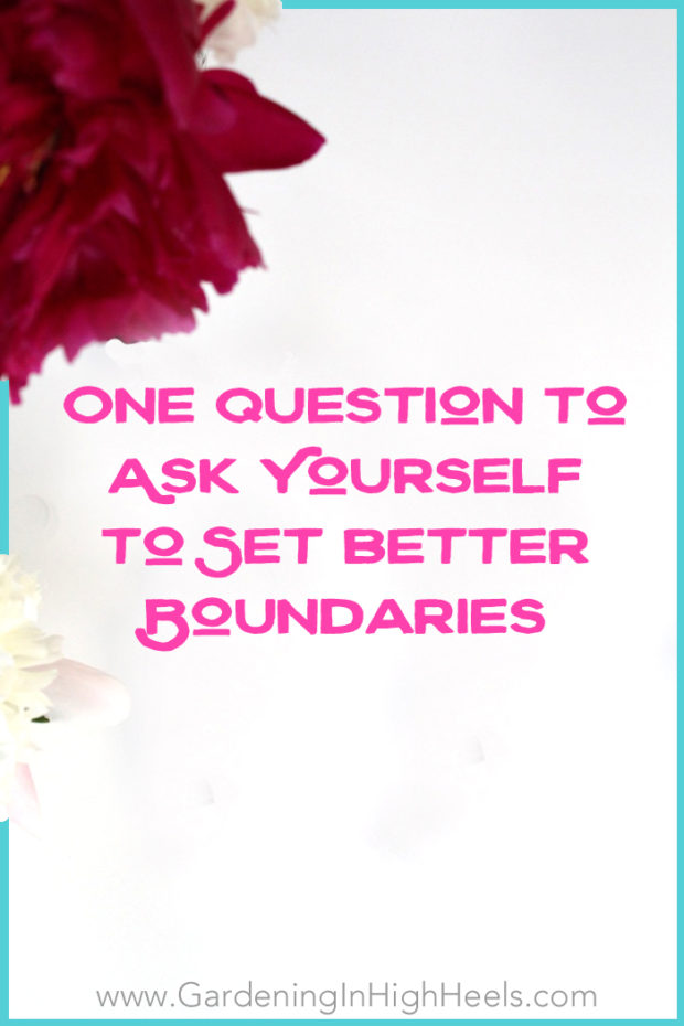 Setting boundaries doesn't have to be a hard and fast yes or no. It's all about honoring your intentions and asking yourself one simple question. So helpful to look at it this way!