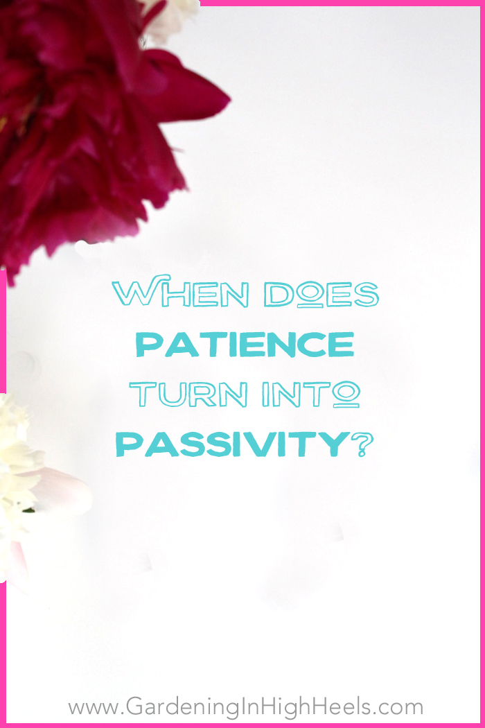 "When does patience turn into passivity? At what point point do you just let people walk all over you at their own pace in the name of ""patience""? The answer is boundaries!"