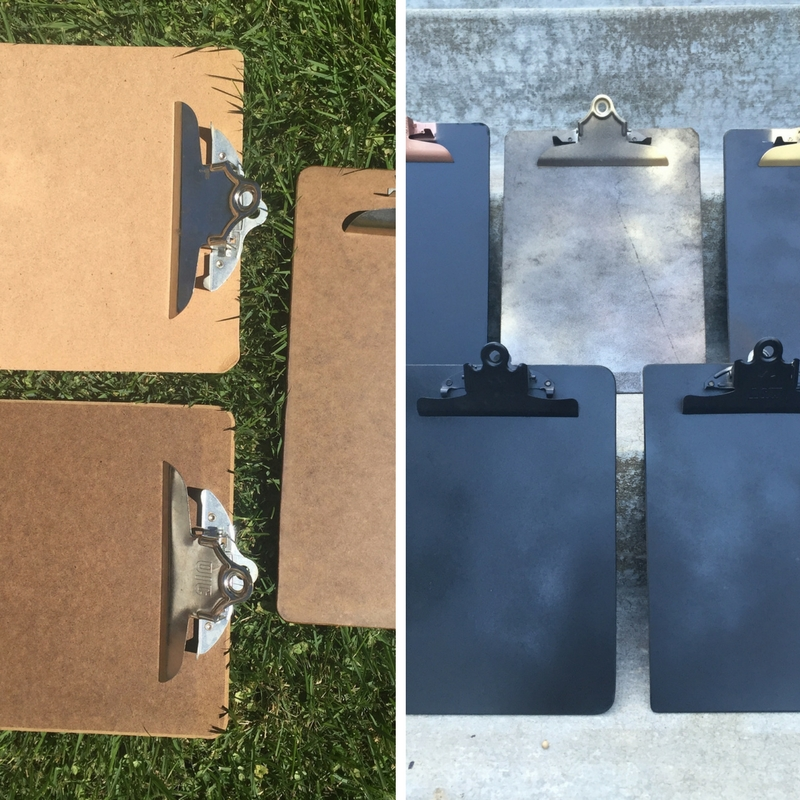 Spray paint is magical. Transform old and dated clipboards into the perfect backing for art prints and to-do lists!