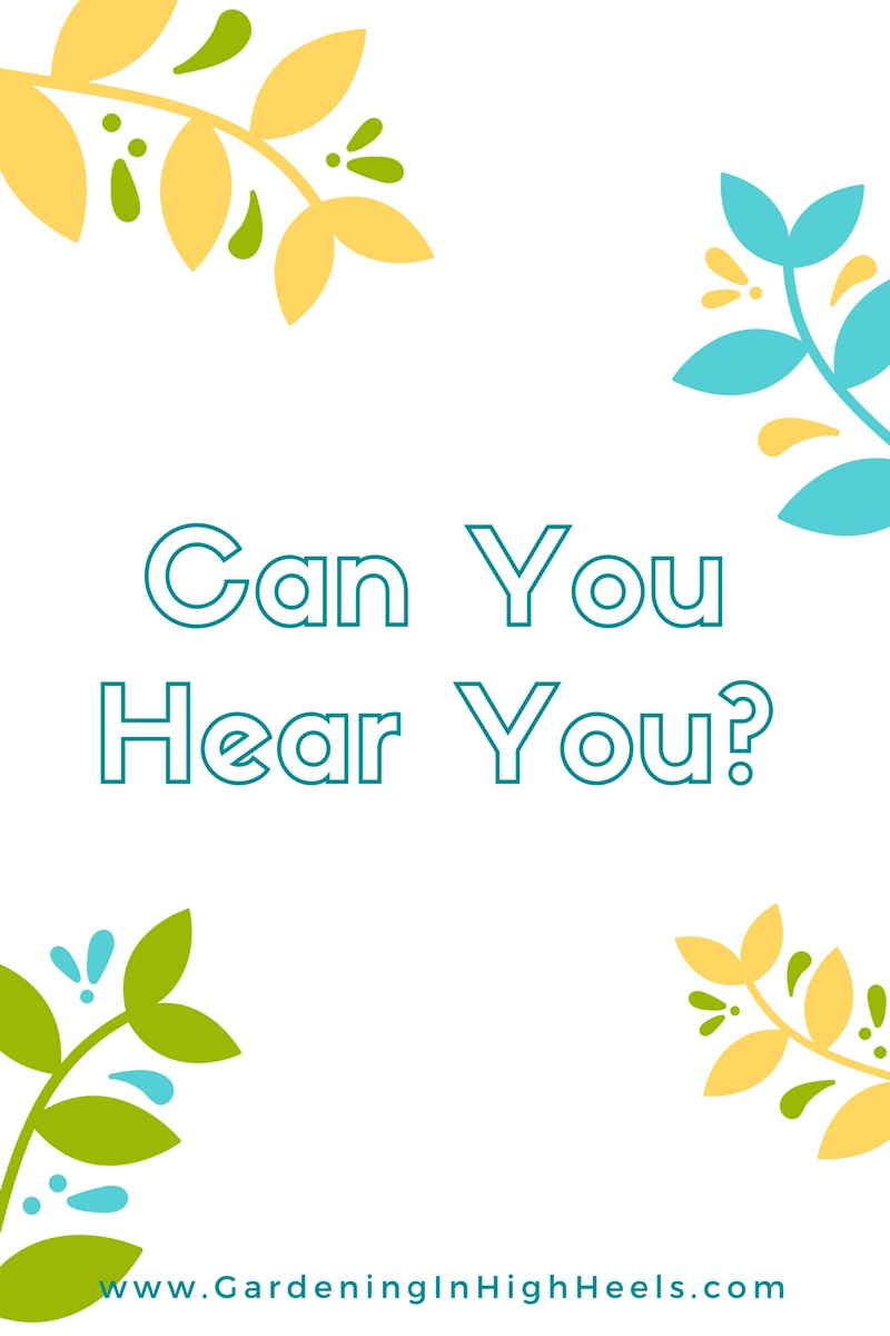 Can you hear you? Awesome reminder to think more than you speak.