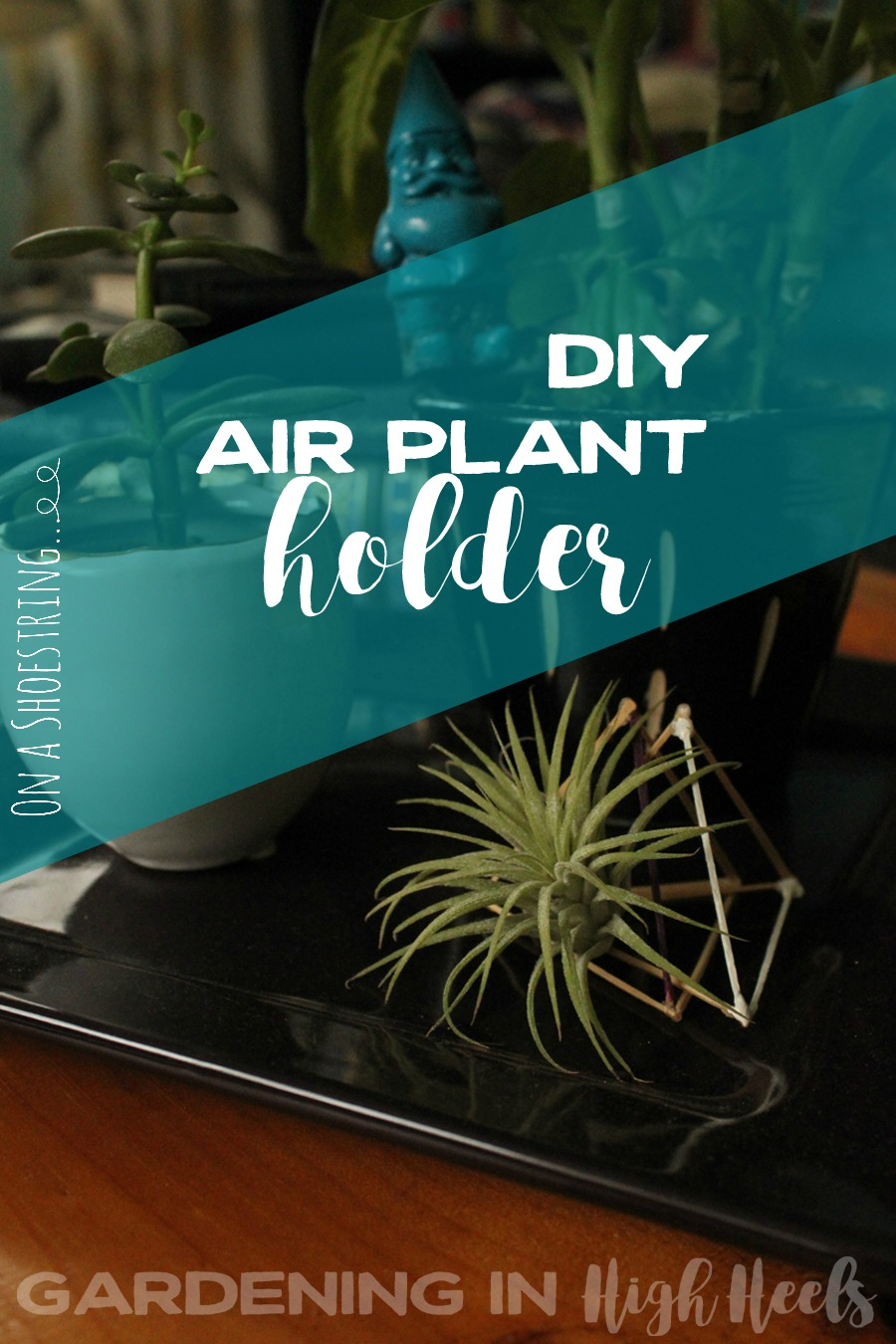 This air plant holder is so easy to make! It's just toothpicks, glue, and paint. It's an awesome, quick DIY!